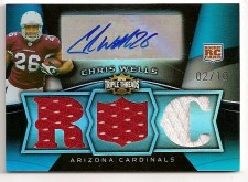 Chris Wells 2009 Topps Triple Threads RC