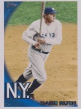 2010 Topps Babe Ruth SP Legeds Base Card