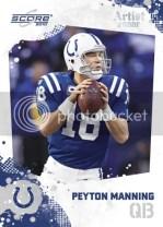2010 Score Peyton Manning Base Card
