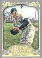 2012 Topps Gypsy Queen Mickey Mantle Base Card