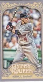 2012 Topps Gypsy Queen Yadier Molina Mini Sp