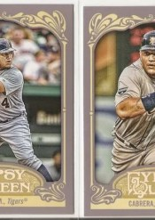 2012 Topps Gypsy Queen Miguel Cabrera Sp Variation Card