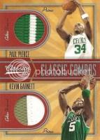 09/10 Panini Classic Combos Kevin Garnett Paul Pierce
