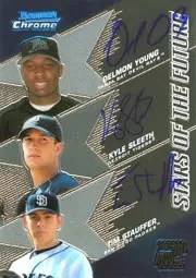 2004 Bowman Chrome Stars of The Future Triple Auto