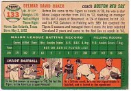 1954 Topps Baseball Davie Baker Coach