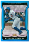 2009 Topps Finest Alfonso Soriano Blue Refractor