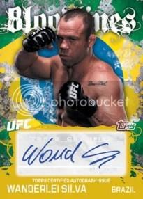 2010 Topps UFC Bloodlines Wanderlei Silva Autograph