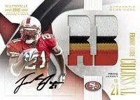 2009 Playoff National Treasures Frank Gore Colossal Prime Auto Jersey