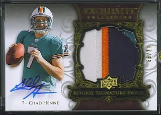 Chad Henne 2008 Upper Deck Exquisite Patch 4 Clr