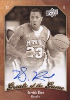 Derrick Rose Greats Of The Game Autograph