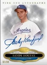 2013 Topps Tier One Sandy Koufax Auto