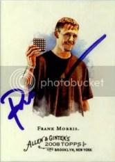 Frank Morris 2008 Topps Allen & Ginter TTM