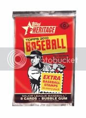 2010 Topps Heritage Baseball Pack