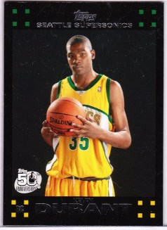 Kevin Durant Topps RC Card
