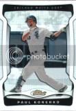 2009 Topps Finest Paul Konerko White XFractor 1/1