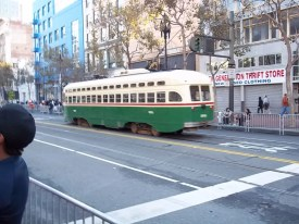 San Francisco Cable Car Before Giants Parade