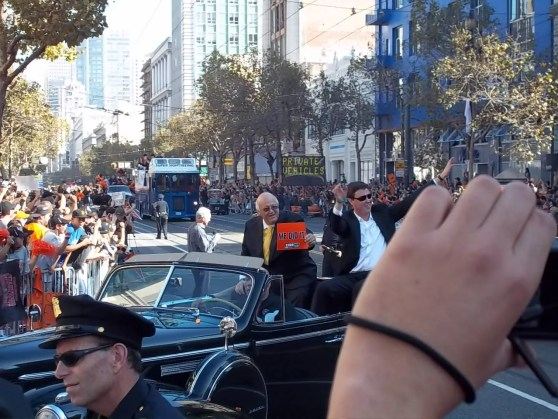 Giants Jon Miller and Dave Flemming at World Series Parade