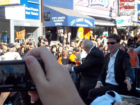 Giants Broadcasters Jon Miller and Dave Flemming World Series Parade