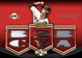 2010 Triple Threads Tim Lincecum Relic