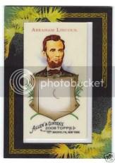 Abraham Lincoln 2009 Allen & Ginter DNA Card