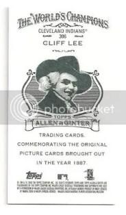 Cliff Lee Allen & Ginter Ad Back