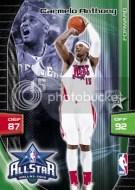 2009/10 Adrenalyn Xl Carmelo Anthony All Star