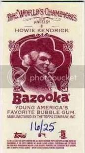 Howie Kendrick 2009 Topps Allen & Ginter Bazooka Back