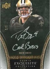 Drew Brees 2009 Exquisite Football Auto