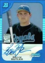 2005 Billy Butler Blue Refractor Autograph RC