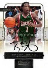 09/10 Panini Classics Brandon Jennings Autograph RC