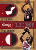 09/10 Panini Classics Tim Hardaway Alonzo Morning Dual