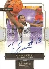 2009/10 Panini Classics Tyreke Evans Autograph RC Card