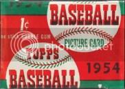 1954 Topps Baseball Pack