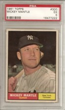 1961 Topps Mickey Mantle PSA 5