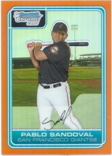 2006 Bowman Chrome Pablo Sandoval Orange Refractor