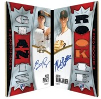 2010 Triple Threads Buster Posey Madison Bumgarner Dual Auto Relic
