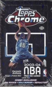 03/04 Topps Chrome Basketball Hobby Box