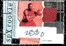 2003/04 UD SPx LeBron James Jsy/Auto RC
