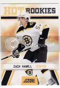 2010/11 Score Hockey Zach Hamill Hot Rookie Card