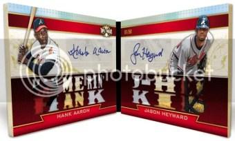 2011 Triple Threads Hank Aaron/Jason Heyward Dual Autograph