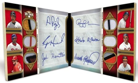 2011 Topps Triple Threads Book Autograph Card