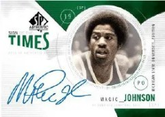 2010/11 Sp Authentic Magic Johnson Sign of the Times Auto