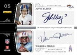 2010 Panini National Treasures Brett Favre Dan Marino John Elway Warren Moon Quad Autograph Back Card