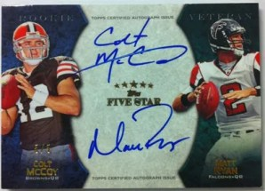 2010 Topps Five Star Colt McCoy Matt Ryan Dual Autograph Card #5/5