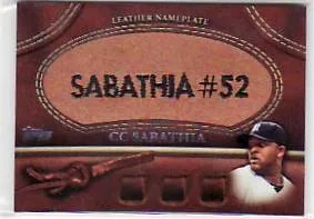 2011 Topps CC Sabathia Glove Leather
