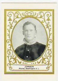 2011 Topps Walter Johnson Reproduction Card 1909 T204