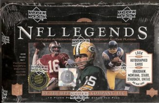 1997 Upper Deck UD Legends Football Box