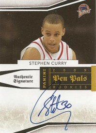 09/10 Panini National Treasures Pen Pals Stephen Curry Autograph