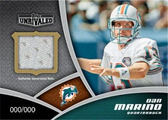 2010 Topps Unrivaled Greats Relic Card of Dan Marino