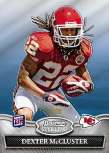 2010 Bowman Sterling Dexter McCluster Rookie Card